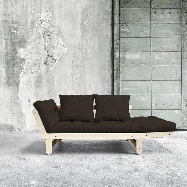 Sofa rozkładana Beat Natural/Choco Brown