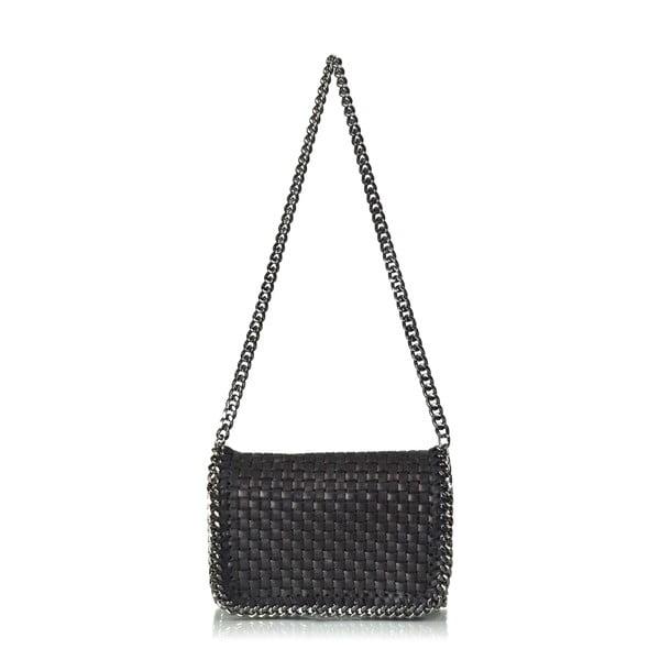 Skórzana torebka Deborah, czarna