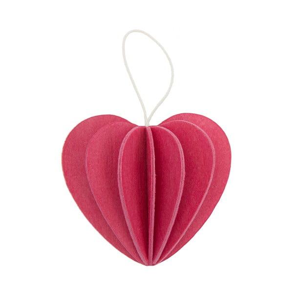 Składana pocztówka Heart Pink, 4.5 cm
