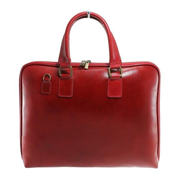 Czerwona skórzana torba Camilla