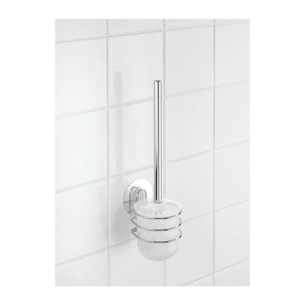 Pojemnik z przyssawką i szczotką do WC Wenko Static-Loc, do 8 kg