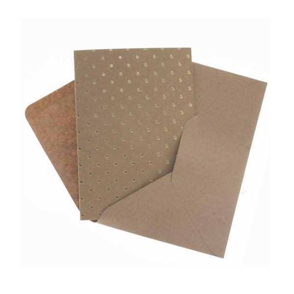 Komplet 6 kartek na życzenia Gold