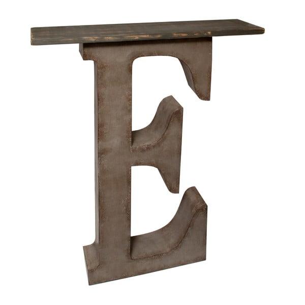 Dekoracja z półką Litera E