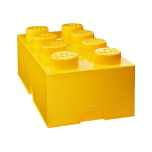 Żółty pojemnik prostokątny LEGO®