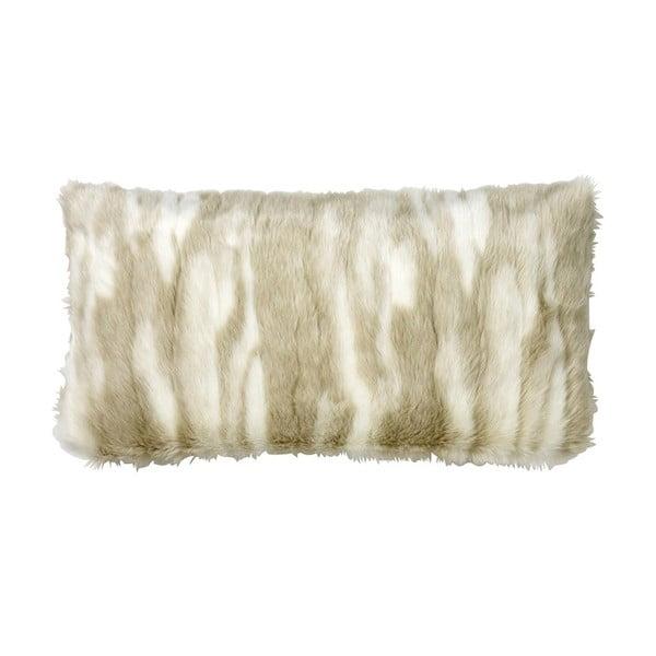 Poduszka z wypełnieniem Fake Fur Nature, 30x60 cm