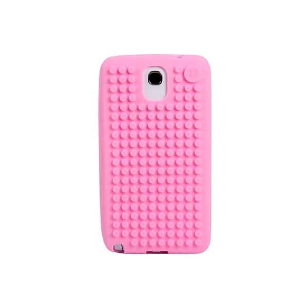 Pikselowe etui na Samsung Note 3, różowe