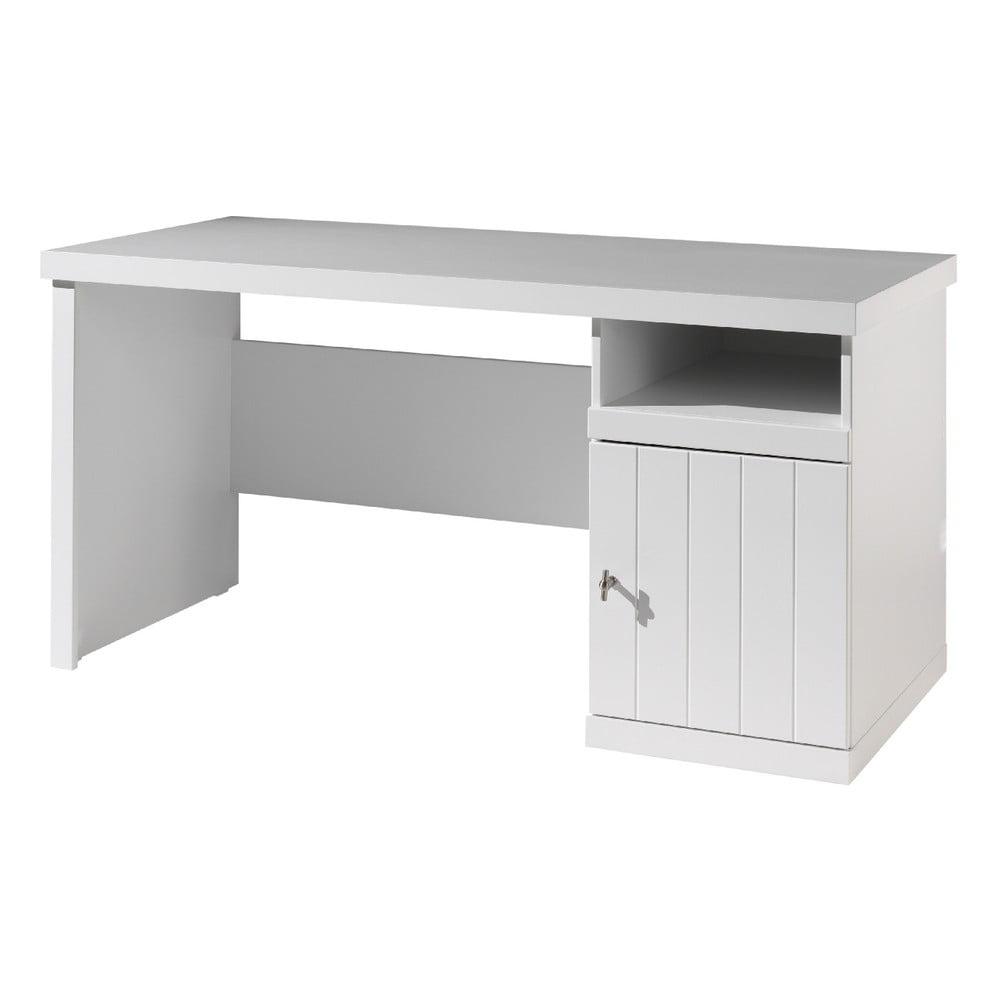 Białe biurko dziecięce Vipack Robin, dł. 70 cm