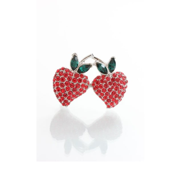 Broszka Laura Bruni Crystal Strawberries