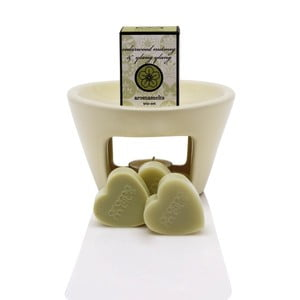 Lampa aromatyczna o zapachu lawendy i rumianku Aromabotanical Sweet Home, czas palenia30h
