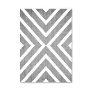 Plakat Geometric White Grey