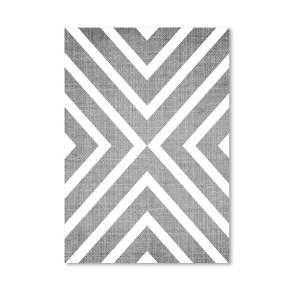 Plakat Geometric White Grey