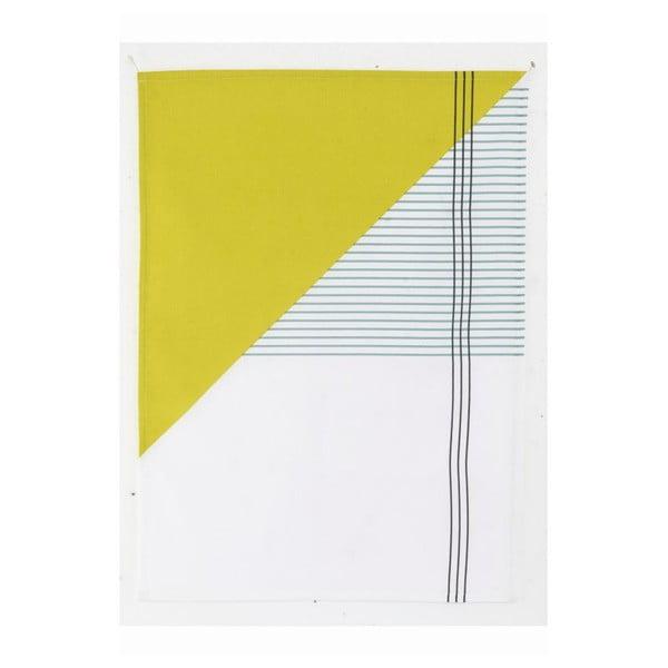 Ścierka kuchenna Geometry Yellow, 50x70 cm