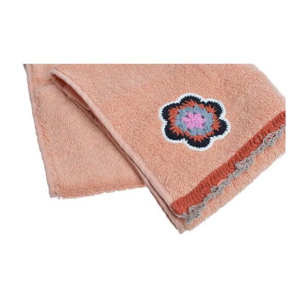 Ręcznik Flower Power, brzoskwiniowy