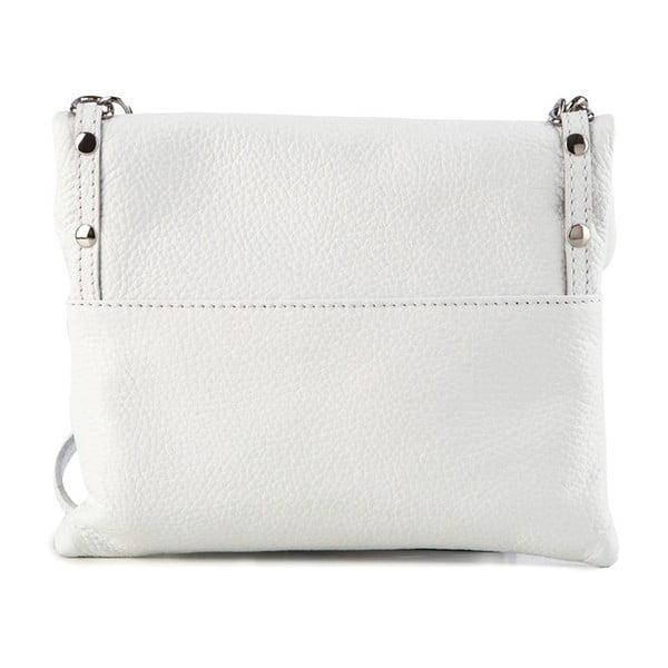 Skórzana torebka Roberto, biała