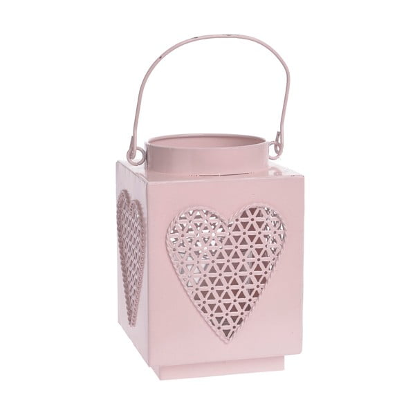 Metalowy lampion Pink Heart