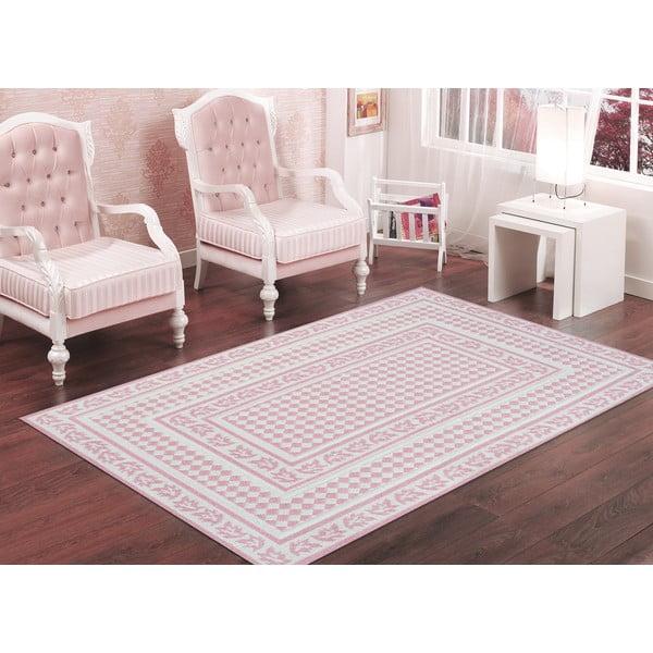 Pudrowy wytrzymały dywan Olivia, 100x150 cm