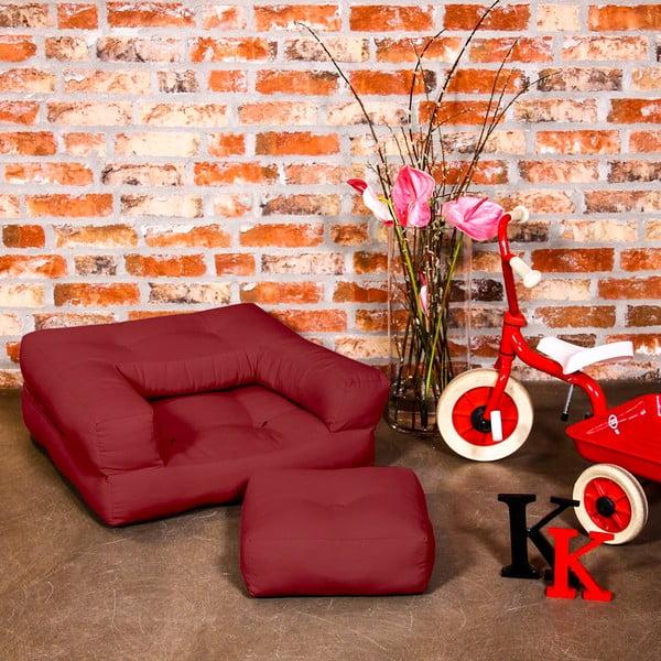 Fotel dziecięcy Karup Baby Cube Light Bordeaux
