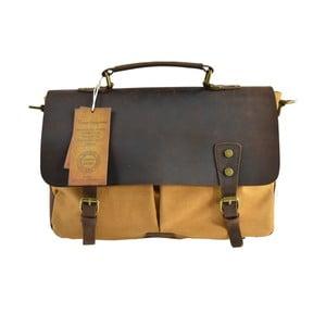Karmelowa torba Brifcase