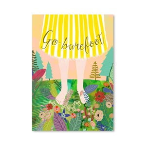 Plakat (projekt: Mia Charro) - Go Barefoot