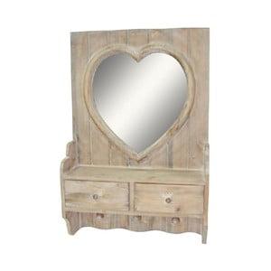Lustro z szufladkami Antic Line Heart