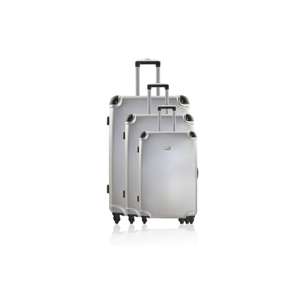 Zestaw 3 walizek Integre Silver, 114 l/75 l/46 l