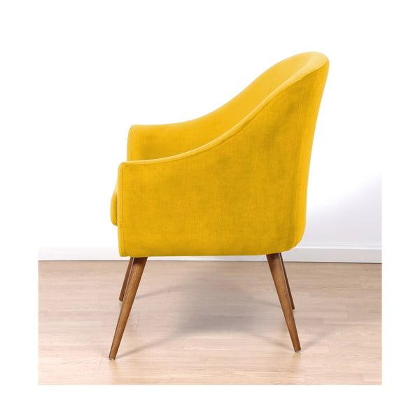 Żółty fotel Hawke&Thorn Herman