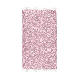 Różowy ręcznik hammam Kate Louise Camelia, 165x100cm