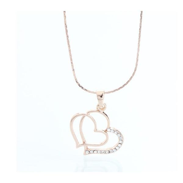 Naszyjnik z kryształami Swarovski Elements Laura Bruni Double Heart