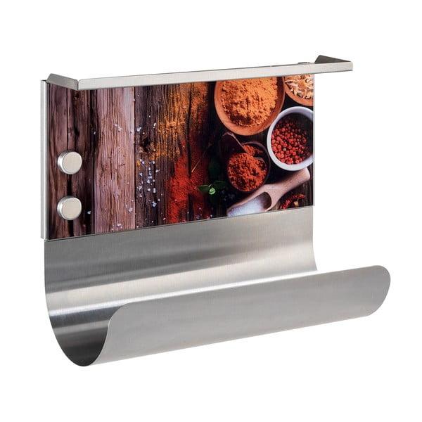 Magnetyczny uchwyt na ręczniki papierowe z półką Wenko Spices