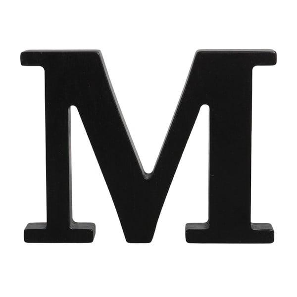 Czarna drewniana litera Typoland M