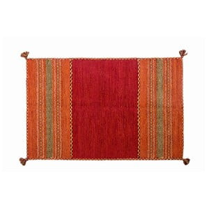 Czerwony dywan ręcznie tkany Navaei & Co Kilim Tribal 606, 170x110 cm