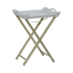Stolik z tacą Vintage Grey, 55x73x40 cm