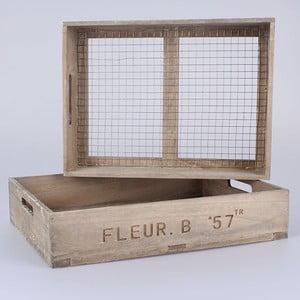 Zestaw 2 skrzynek z siatką Dakls Fleur