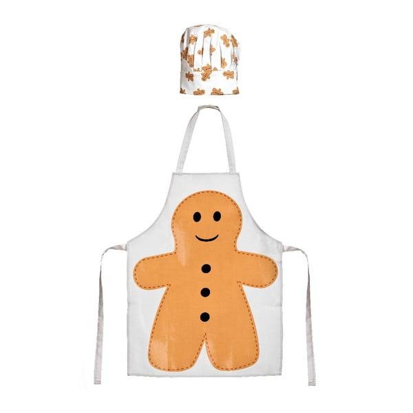 Dziecięcy zestaw fartucha i czepka Gingerbread