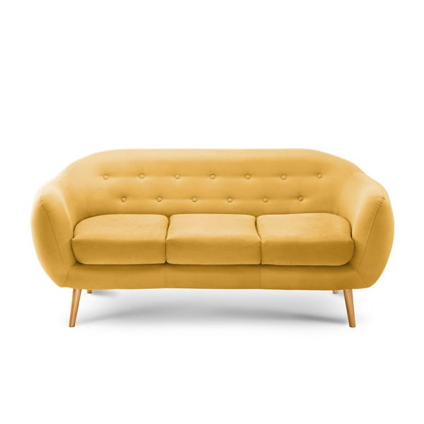 Ciemnożółta sofa 3-osobowa Scandi by Stella Cadente Maison Constellation