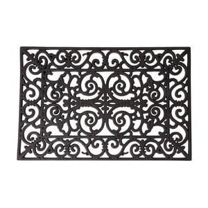 Gumowa prostokątna wycieraczka Esschert Design Ornamental