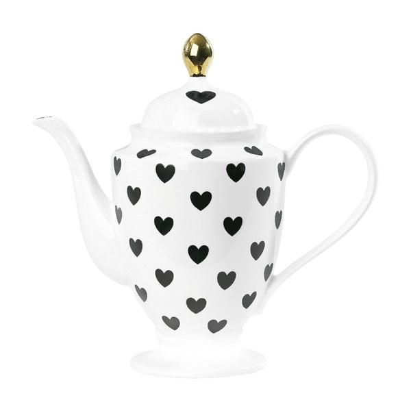Dzbanek ceramiczny Hearts Golden