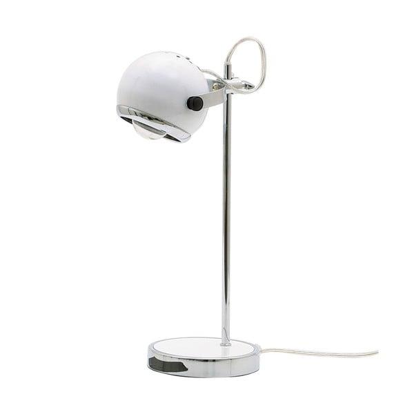 Retro lampa stołowa, biała