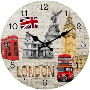 Szklany zegar Londyn, 34 cm