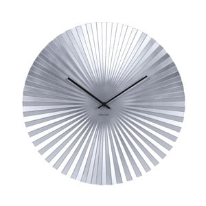 Zegar w kolorze srebra Karlsson Sensu, Ø 50 cm