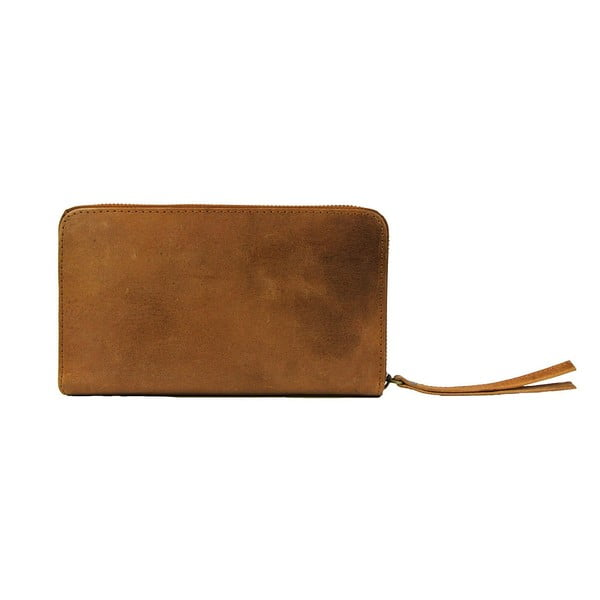 Skórzany portfel Miss Moneypenny, camel