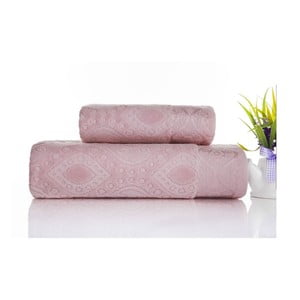 Zestaw 2 ręczników Sal Pink, 50x90 cm i 70x140 cm