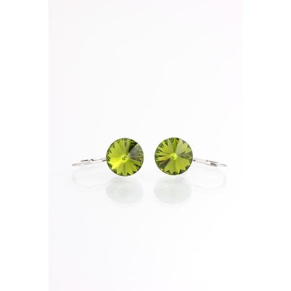 Zielone kolczyki z kryształami Swarovskiego Yasmine Longie