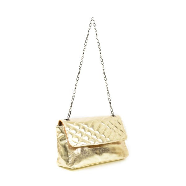 Skórzana torebka Bella, złota