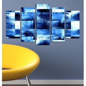 5-częściowy obraz Niebieska abstrakcja