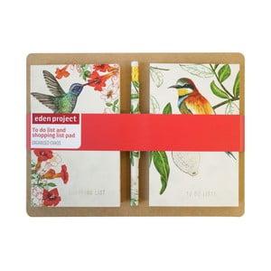 Komplet 2 notesików i długopisu Eden Project by Portico Designs