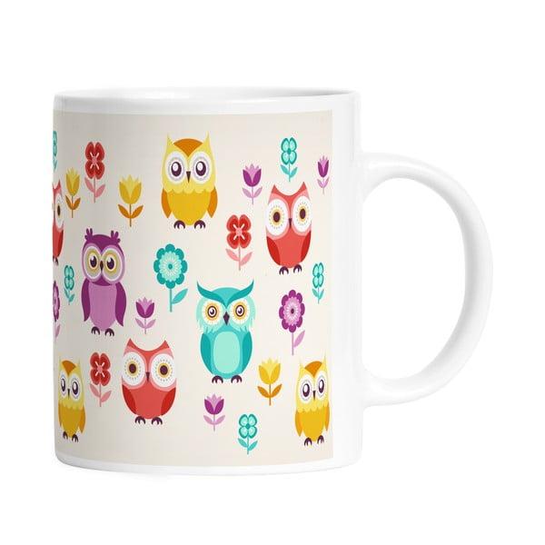 Kubek ceramiczny Cute Owls, 330 ml