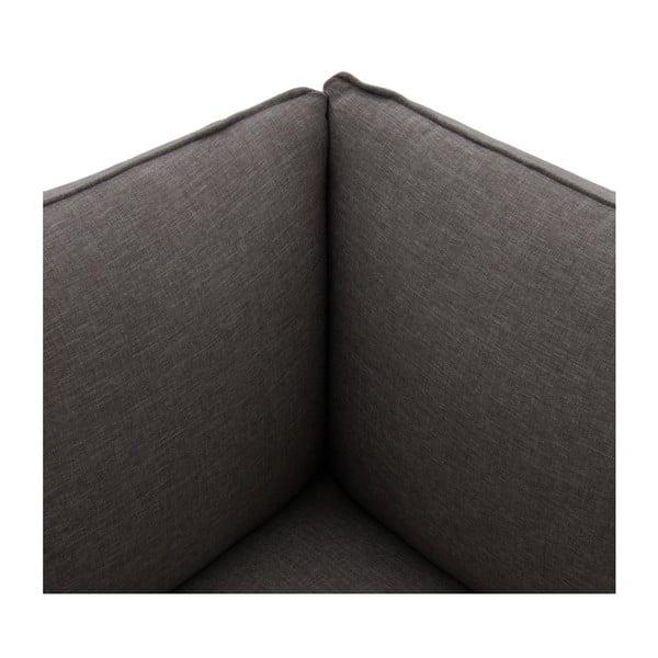 Sofa trzyosobowa VIVONITA Cube Dark Grey z podnogiem