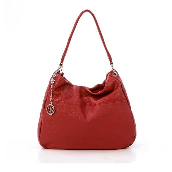 Skórzana torebka Alessandro, czerwona