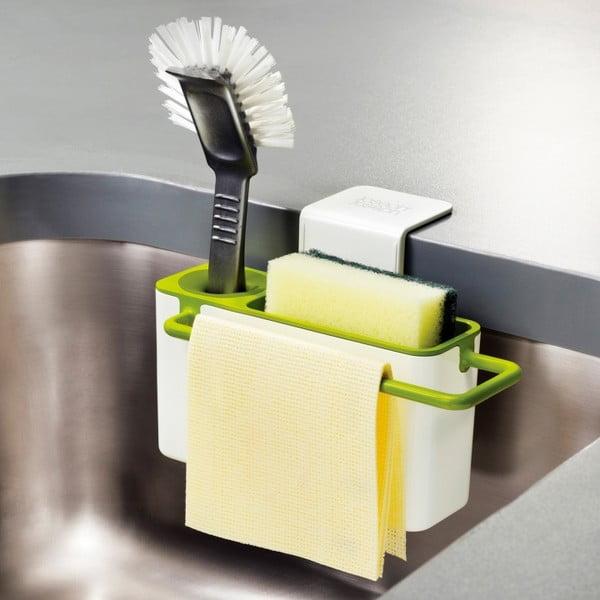 Biało-zielony stojak na środki czystości Joseph Joseph Sink Aid